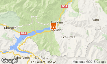 Mapa Les Orres Chal� 74692