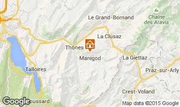 Mapa La Clusaz Chalé 81466