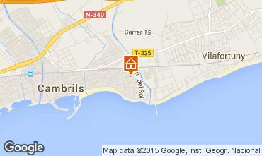 Mapa Cambrils Apartamentos 93886
