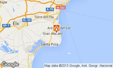 Mapa Santa Pola Apartamentos 56526