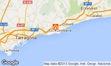 Mapa Tarragona Apartamentos 8176