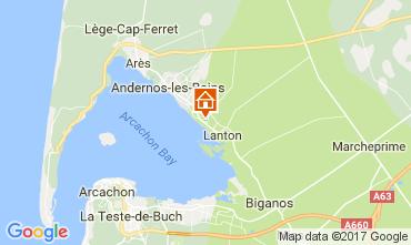 Mapa Andernos les Bains Vivenda 111085