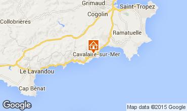 Mapa Cavalaire-sur-Mer Apartamentos 16796