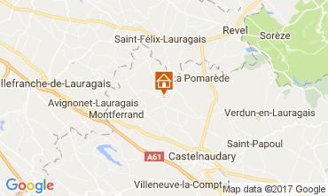 Mapa Carcassonne Casa de turismo rural/Casa de campo 111797