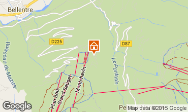 Mapa Montchavin les Coches Apartamentos 58149