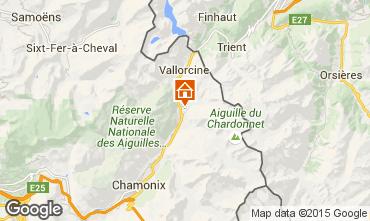 Mapa Chamonix Mont-Blanc Chalé 721