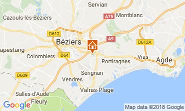 Mapa Beziers Quarto de hóspedes 114289