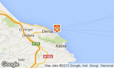 Mapa Dénia Apartamentos 59995