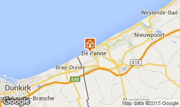Mapa La Panne Apartamentos 59835