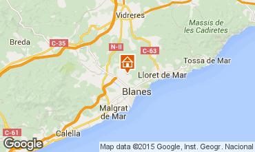 Mapa Blanes Apartamentos 77586