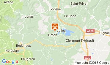 Mapa Clermont l'Hérault Casa de turismo rural/Casa de campo 12323