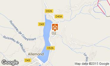 Mapa Alpe d'Huez Apartamentos 16265