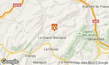 Mapa Le Grand Bornand Chalé 101638