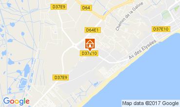 Mapa Valras-Praia Casa 110272