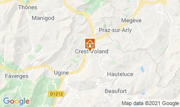 Mapa Crest Voland Cohennoz Apartamentos 61386