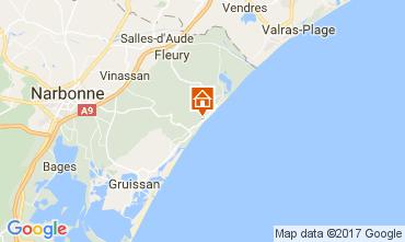 Mapa Narbonne praia Apartamentos 107075