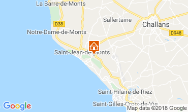 Mapa Saint Jean de Monts Mobil Home 117410
