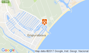 Mapa Empuriabrava Apartamentos 78678