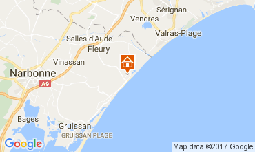 Mapa Saint Pierre la Mer Apartamentos 107837