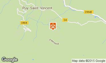 Mapa Puy Saint Vincent Chal� 2395