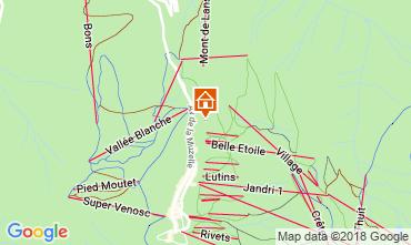 Mapa Les 2 Alpes Chalé 117369