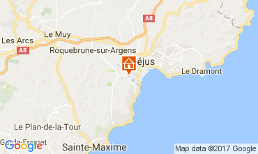 Mapa Saint Aygulf Mobil Home 109037