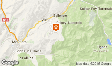 Mapa La Plagne Apartamentos 59584
