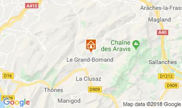 Mapa Le Grand Bornand Chalé 116902