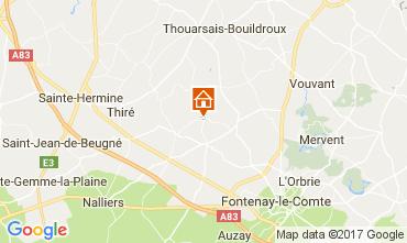 Mapa Fontenay-le-Comte Casa de turismo rural/Casa de campo 111530