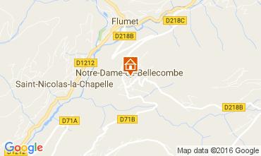 Mapa Notre Dame de Bellecombe Apartamentos 107301