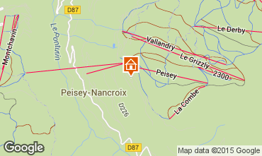 Mapa Peisey-Vallandry Apartamentos 92771