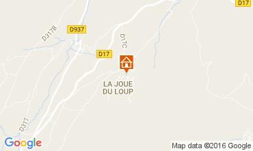 Mapa Superd�voluy- La Joue du Loup Chal� 1555