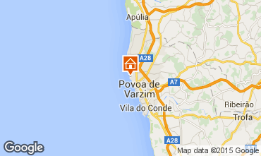 Mapa Póvoa de Varzim Apartamentos 34902