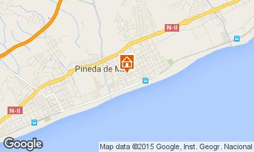 Mapa Pineda de Mar Apartamentos 95237