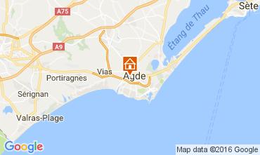 Mapa Agde Casa 83647