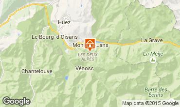 Mapa Les 2 Alpes Apartamentos 40126