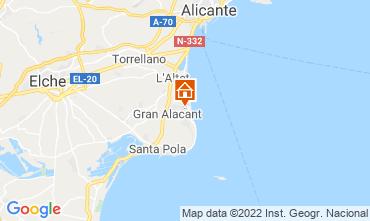 Mapa Santa Pola Apartamentos 82118