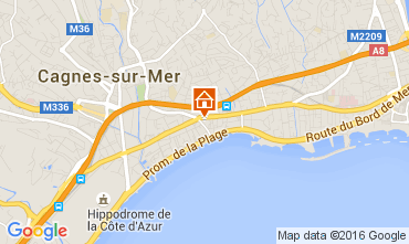 Mapa Cagnes sur Mer Apartamentos 104262