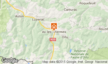 Mapa Ax Les Thermes Apartamentos 93039