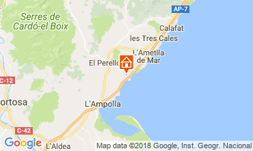 Mapa La Ametlla de Mar Casa 102218