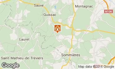 Mapa Sommières Casa de turismo rural/Casa de campo 12181