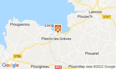 Mapa Plestin les Grèves Casa 14528
