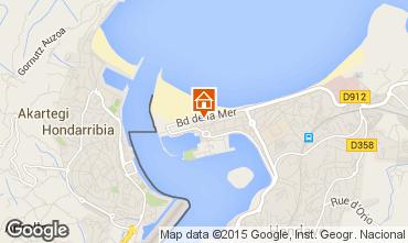 Mapa Hendaye Apartamentos 57433