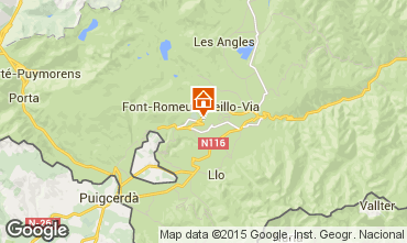 Mapa Font Romeu Apartamentos 4157