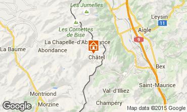 Mapa Châtel Chalé 73656