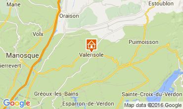 Mapa Valensole Casa de turismo rural/Casa de campo 105053