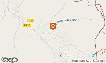 Mapa Châtel Chalé 58875