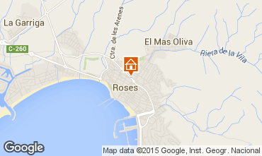 Mapa Rosas Apartamentos 76046