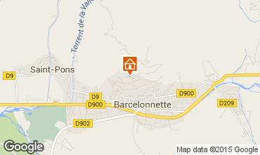 Mapa Barcelonnette Apartamentos 4855