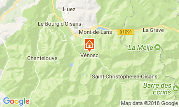 Mapa Les 2 Alpes Apartamentos 59663